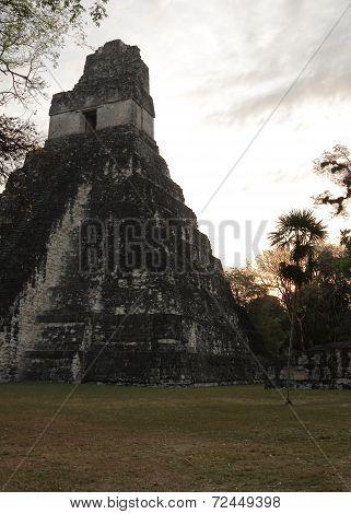 Mayan temple ruins at dawn, Tikal National Park, Guatemala