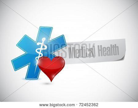 Medical Health Post Paper Sign Illustration Design