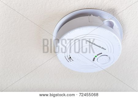 Carbon Monoxide Alarm On The Ceiling