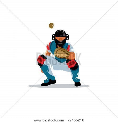 Baseball Player Vector Sign