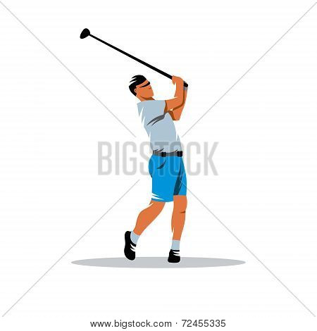 Golfer Vector Sign