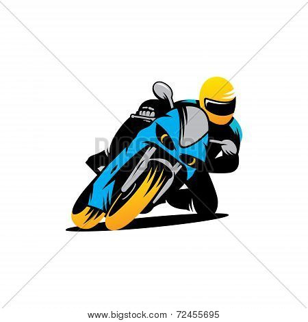 Motorcycle Races Vector Sign
