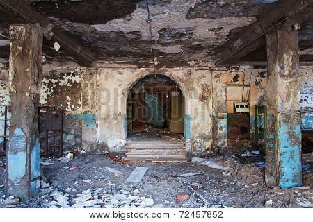 Entrance to an abandoned building