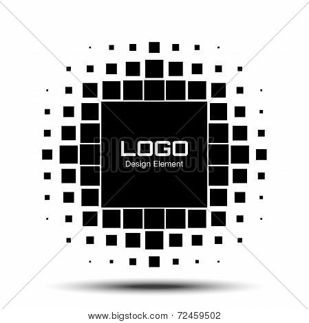 Abstract Halftone Logo Design Element