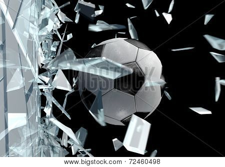Broken Glass 3D Soccer Ball 2