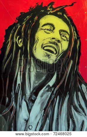 Graffiti Bob Marley Portrait