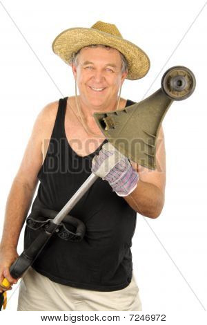 Gardener With Whipper Snipper