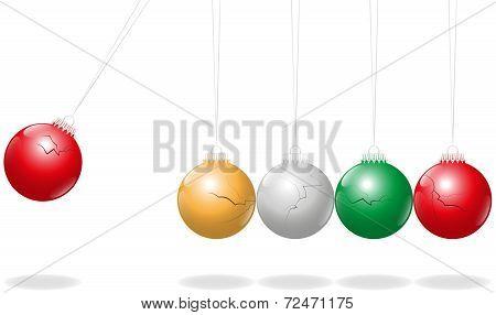 Newtons Cradle Christmas Balls