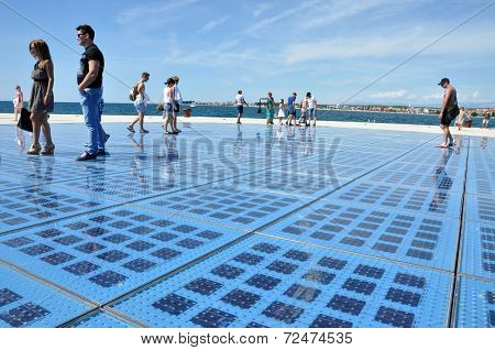 Greeting To The Sun - Solar Panel Sculpture In Zadar, Croatia