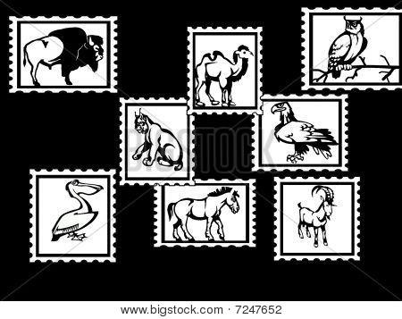 Sellos postales de animales