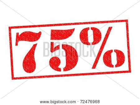 75% Rubber Stamp