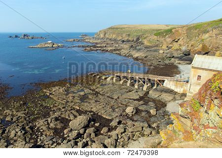 Disused Lifeboat station The Lizard peninsula Cornwall England UK south of Falmouth and Penryn
