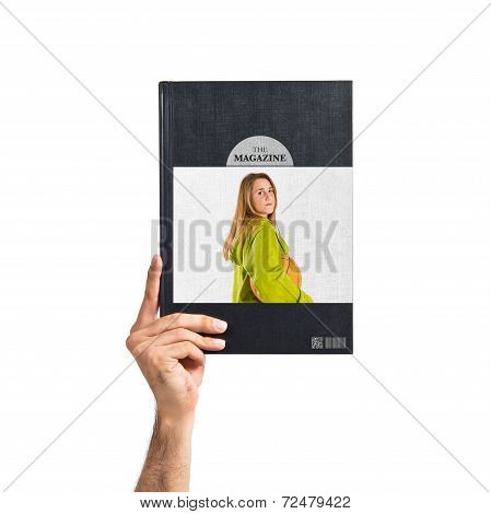 Young Girl With Basketball Printed On Book