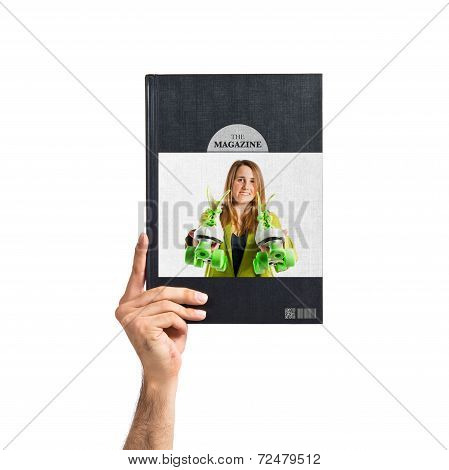 Girl With Rollerblade Printed On Book