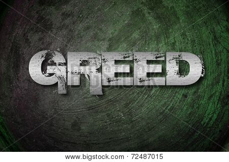 Greed Concept