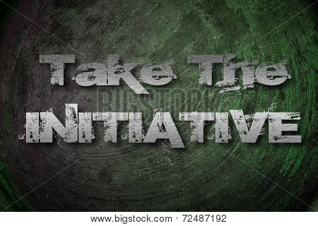 Take The Initiative Concept