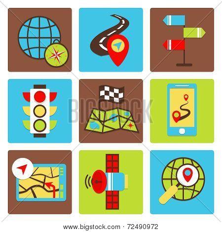Mobile navigation icons