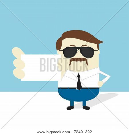 serious businessman businesscard