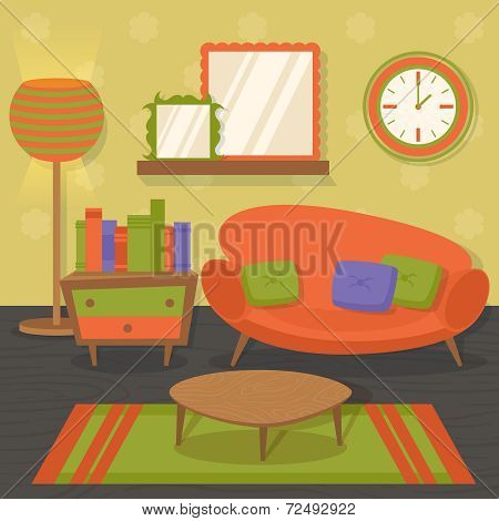Interior design sofa