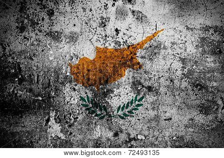Grunge Flag Of Cyprus With Capital In Nicosia