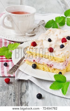 Celebratory Cake With Berries