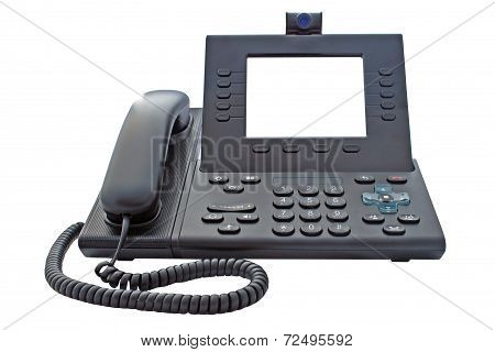 Voip Phone With Blank Display