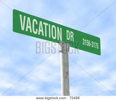 Vacation Themed Street Sign