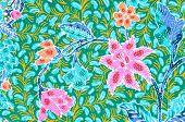 pic of batik  - The Traditional batik sarong pattern background - JPG