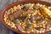 foto of stew pot  - Cassoulet stew typical of southern France - JPG