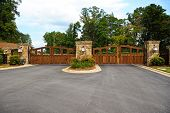 picture of gate  - Stately Entrance Gates to New Gated Community - JPG