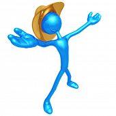 stock photo of buckaroo  - Cowboy Arms Open - JPG
