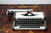 Vintage Travel Typewriter poster