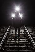 pic of suicide  - Woman in front of train before suicide - JPG