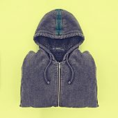 stock photo of hoodie  - Neatly folded men - JPG