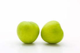 picture of indian apple  - Green fresh Ziziphus mauritiana Jujube Chinese Apple Indian plum and permseret - JPG