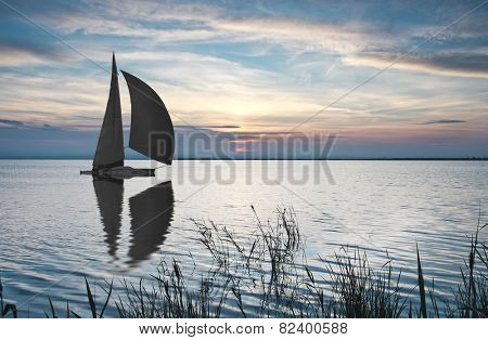 sailing the open sea,