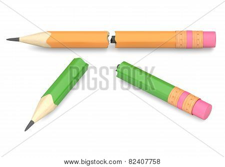 Two Broken Pencils