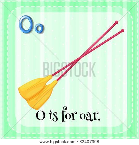 Illustration of a letter O is for oar