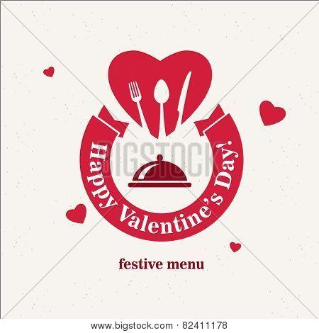 Vintage Valentine's Day Restaurant Menu