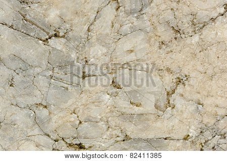 Old Cracked Natural White Marble Texture Close-up