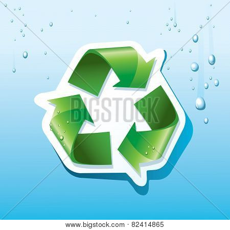 Recycling Sticker