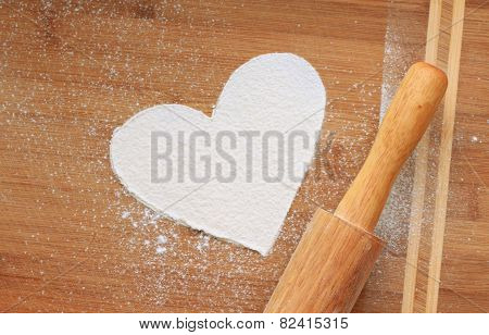 Heart from flour