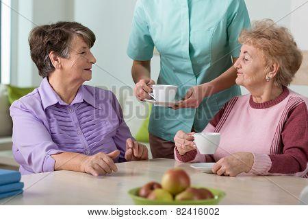 Senior Residents Of Nursing Home
