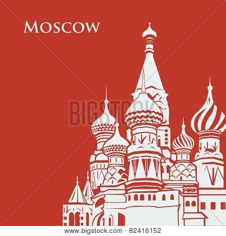 Vector Moscow Saint Basil's Cathedral.