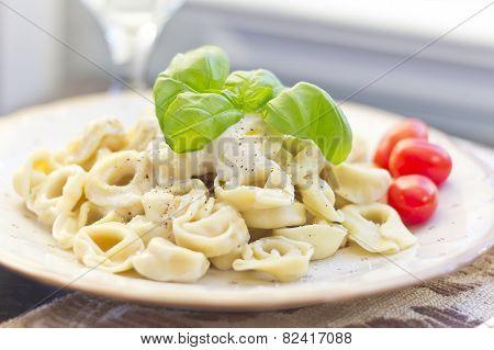 Tortellini With Alfredo Sauce