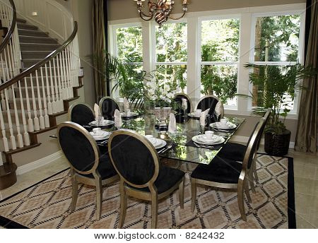 Luxury home dining room