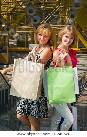 Beautiful Young Women Shopping.