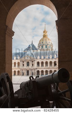 Old Gun In Museum Les Invalides, Paris