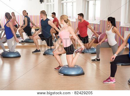 Bosu Training At The Gym
