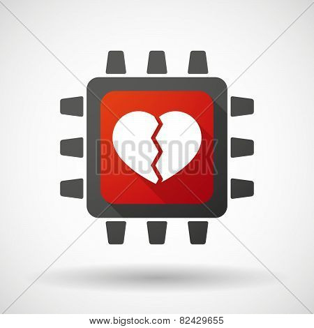 Cpu Icon With A Heart
